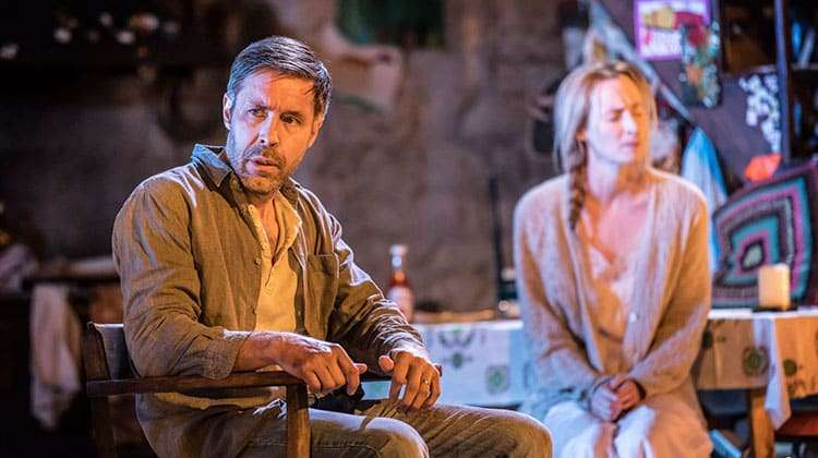 Paddy Considine as Quinn Carney with Genevieve O'Reilly as his wife Mary. Photograph: Johan Persson