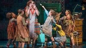 Miranda Hart in Annie (Piccadilly Theatre ). Photo Paul Coltas