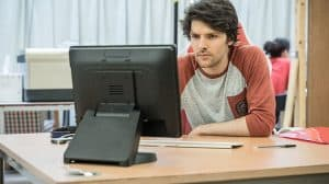 Colin Morgan in Gloria at Hampstead Theatre