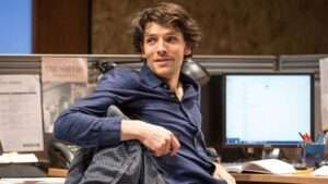 Colin Morgan in Gloria at Hampstead Theatre, London. Photo: Marc Brenner