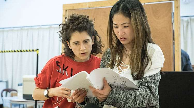 Ellie Kendrick & Kae Alexander in Gloria at Hampstead Theatre