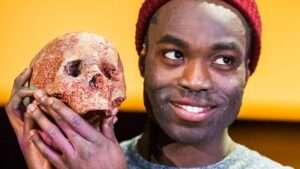 Paapa Essiedu in Hamlet at the Royal Shakespeare Theatre, Stratford-upon-Avon. Photo: Tristram Kenton