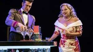 Alex Bhat& Emma Amos in Chichester Festival Theatres production of SWEET BIRD OF YOUTH
