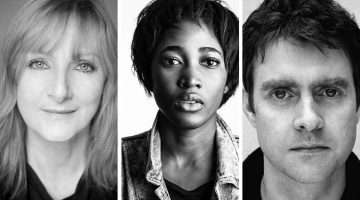 Lesley Sharp, Adelayo Adedayo, Paul Higgins in The Seagull
