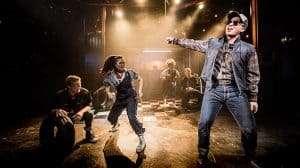 Patrick Coulter, Nicola Espallardo & Dean Chisnall in WORKING at Southwark Playhouse