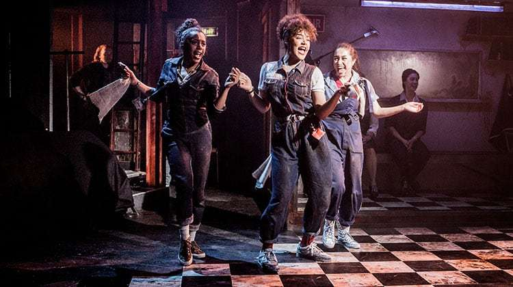 Kerri Norville, Izuka Hoyle & Nicola Espallardo in WORKING at Southwark Playhouse