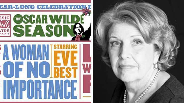 Anne Reid in A Woman of No Importance at the Vaudeville Theatre, London