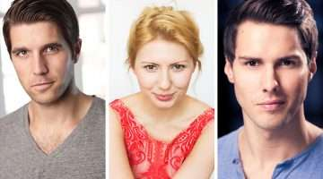 Adam Howden, Bronté Barbé, Kane Oliver Parry in Beautiful The Carole King Musical