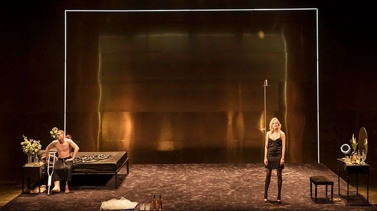 Jack O'Connell & Sienna Miller in Cat on a Hot Tin Roof at Apollo Theatre, London