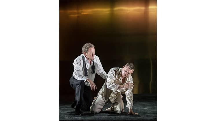 Jack O'Connell & Colm Meaney in Cat on a Hot Tin Roof at Apollo Theatre, London