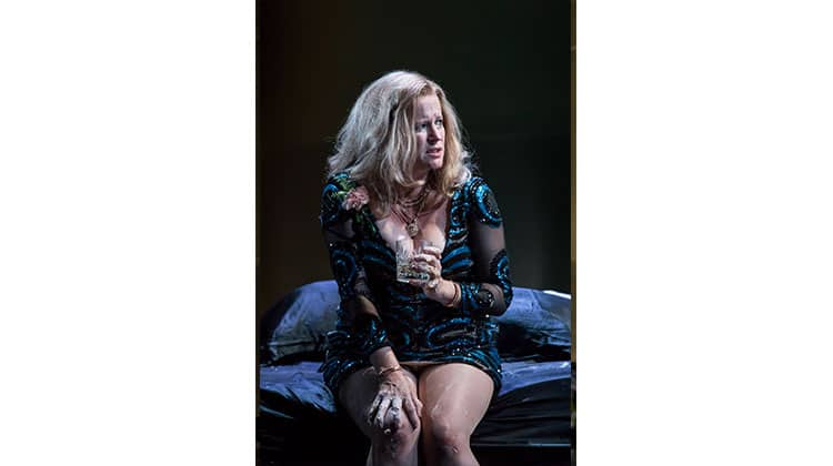 Lisa Palfrey in Cat on a Hot Tin Roof at Apollo Theatre, London