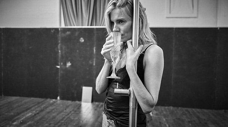 Sienna Miller in rehearsal for Cat on a Hot Tin Roof.