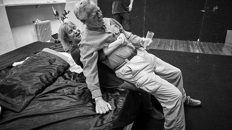 Lisa Palfrey and Michael J Shannon in rehearsals for Cat on a Hot Tin Roof.