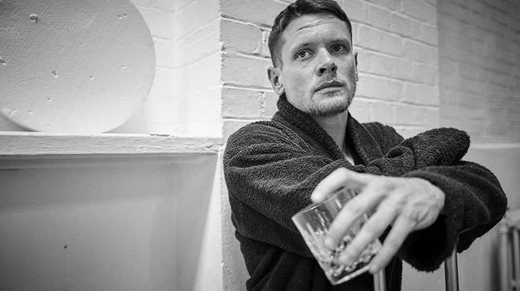 Jack O'Connell in rehearsals for Cat on a Hot Tin Roof. Apollo Theatre, London