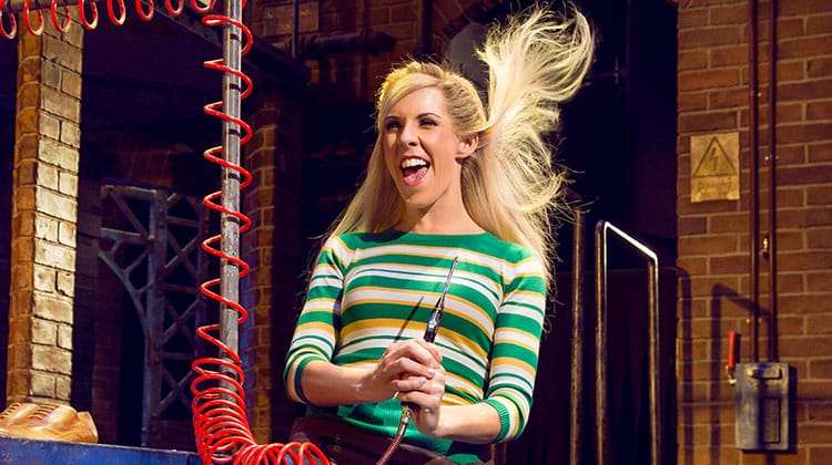Verity Rushworth in Kinky Boots at the Adelphi Theatre, photo by Darren Bell