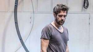 Matt Ryan in rehearsal for Knives in Hens. Donmar Warehouse.