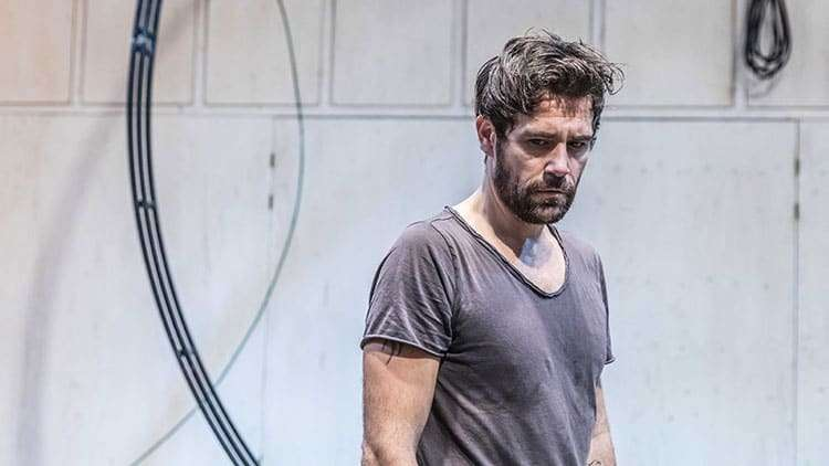 Matt Ryan in rehearsal for Knives in Hens. Donmar Warehouse.  Photo by Marc Brenner | In rehearsal: Knives In Hens at Donmar Warehouse