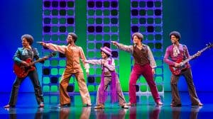 Samuel Nicholas, Samuel Edwards, Raphael Higgins Humes, Simon Ray Harvey and Jay Perry - Motown the Musical, Shaftesbury Theatre, London