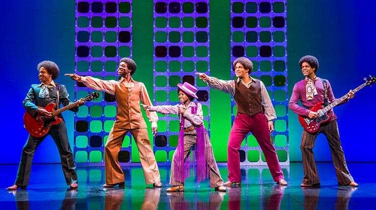 Samuel Nicholas, Samuel Edwards, Raphael Higgins Humes, Simon Ray Harvey and Jay Perry - Motown the Musical, Shaftesbury Theatre, London