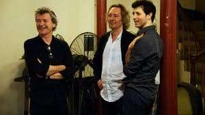 Simon Phillips, Jonathan Church, Jonathan Watton . North by North West rehearsals. Credit Nobby Clark.