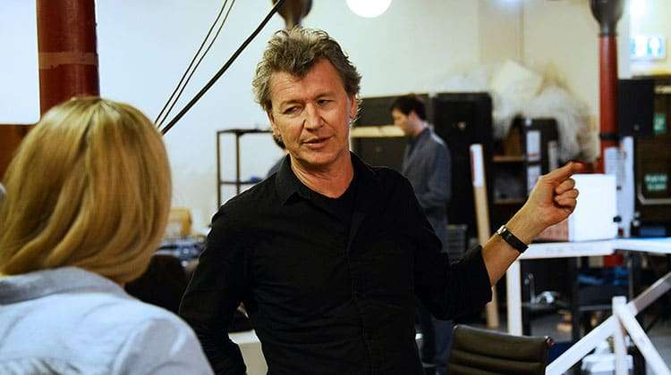 Director Simon Phillips in North by North West rehearsals at Theatre Royal Bath.