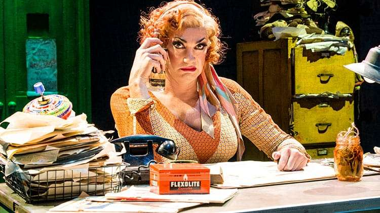 Craig Revel Horwood as Miss Hannigan in Annie The Musical