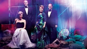 Janie Dee, Philip Quast, Imelda Staunton and Peter Forbes. Photograph by Perou, designed by the NT Graphic Design Studio