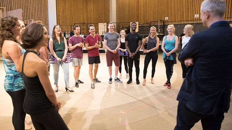 The company rehearsing FOLLIES - National Theatre, London