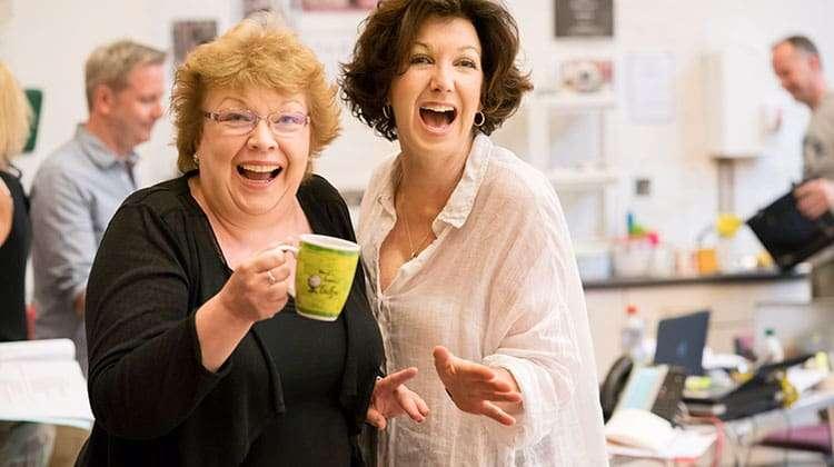 Di Botcher and Geraldine Fitzgerald FOLLIES - National Theatre, London