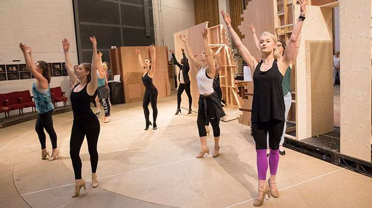 The company rehearsing FOLLIES - National Theatre, London
