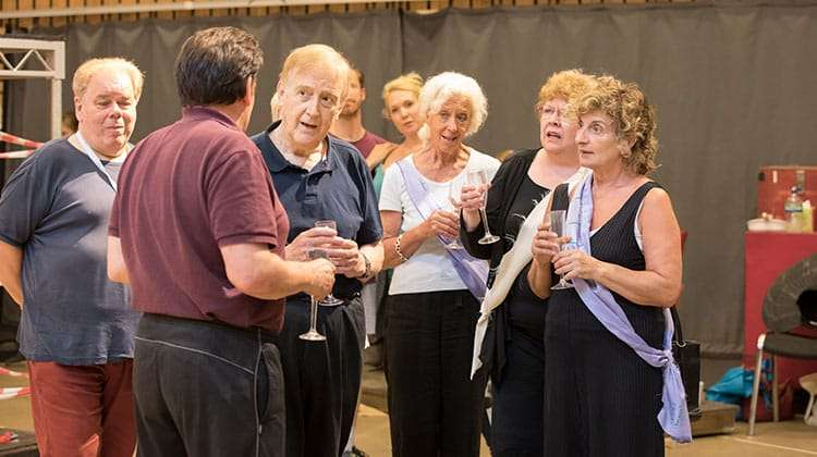 The company rehearsing FOLLIES - photo by Johan Persson | In rehearsal – Follies at the National