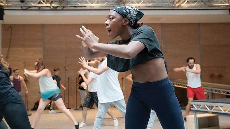 Tinovimbanashe Sibanda in rehearsal  Jesus Christ Superstar | Regents Park | Photo Johan Persson | In Rehearsal – Jesus Christ Superstar at Regents Park Theatre