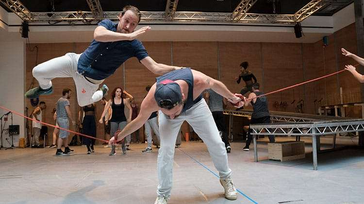 Peter Caulfield and Declan Bennett in rehearsal - Jesus Christ Superstar | Regents Park