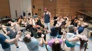 Cast rehearsal - Jesus Christ Superstar   Regents Park