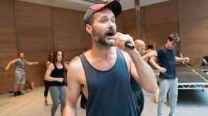 Declan Bennett in rehearsal - Jesus Christ Superstar | Regents Park