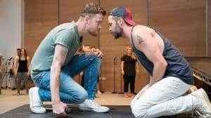 David Thaxton and Declan Bennett in rehearsal - Jesus Christ Superstar | Regents Park