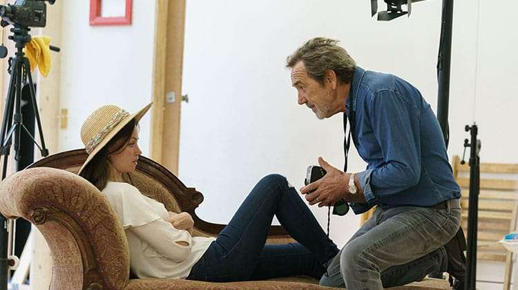 Rebecca Night & Robert Lindsay in rehearsals for Prism at Hampstead Theatre