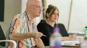 Terry Johnson (Director) in rehearsals for Prism at Hampstead Theatre