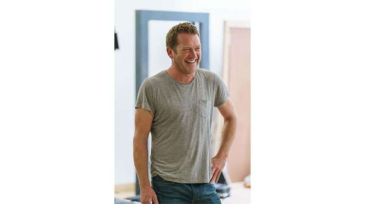Barnaby Kay in rehearsals for Prism at Hampstead Theatre