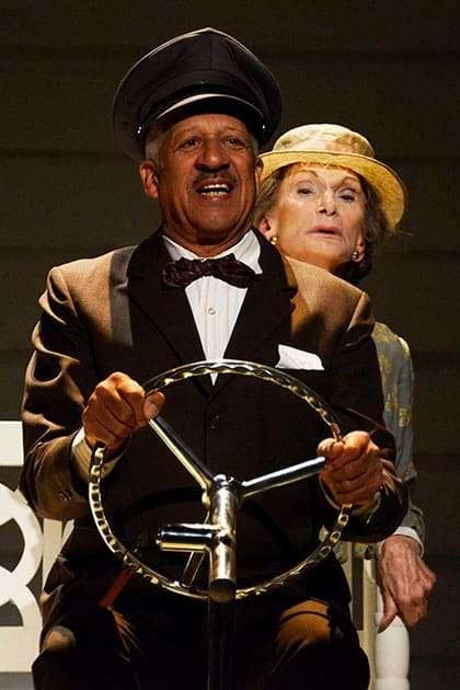 Derek Griffith & Sian Phillips in Driving Miss Daisy. Photo: Nobby Clark