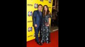 Ross King and wife Brianna Deutsch at the press night for The Band, credit Phil Treagus