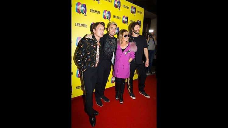 Mark Owen, Gary Barlow, Lulu, Howard Donald at the press night for THE BAND, credit Phil Treagus | Photo flash: opening night at The Band