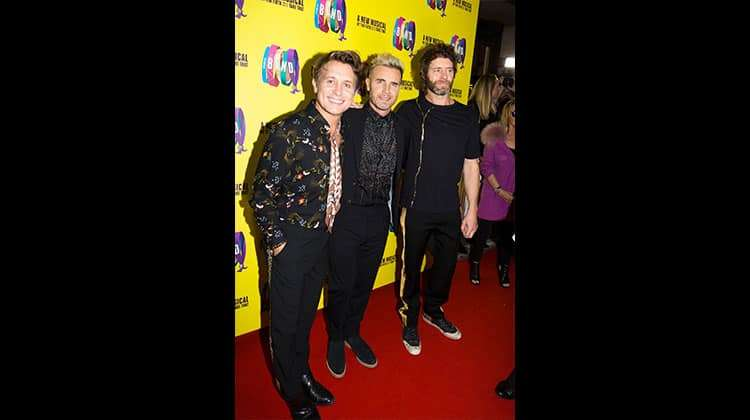 Mark Owen, Gary Barlow & Howard Donald at the press night for THE BAND, credit Phil Treagus