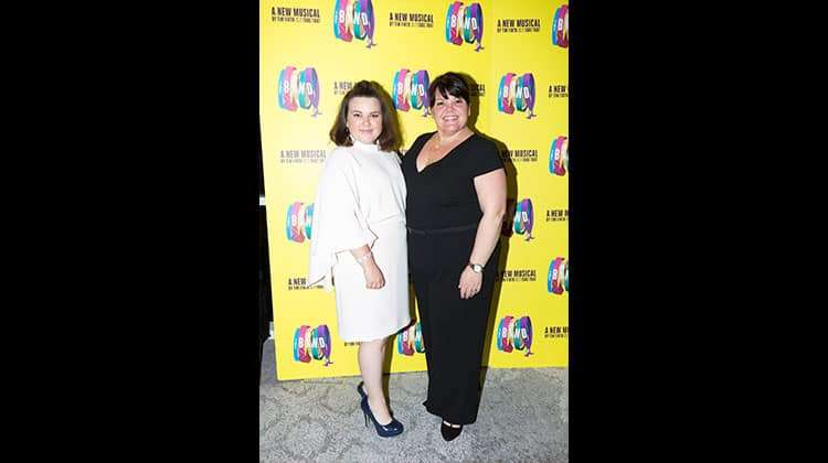 LtoR Faye Christall and Rachel Lumberg at the press night for The Band, credit Phil Treagus