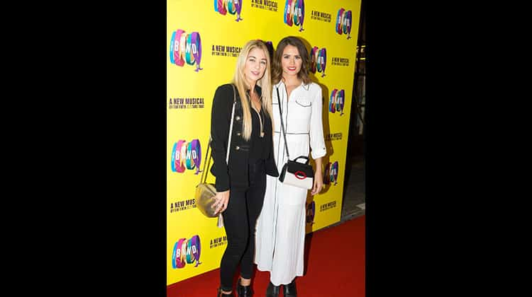 LtoR Amanda Clapham & Sophie Porley at the press night for The Band, credit Phil Treagus