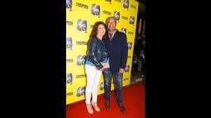 Louis Emerick with wife at the press night for The Band, credit Phil Treagus