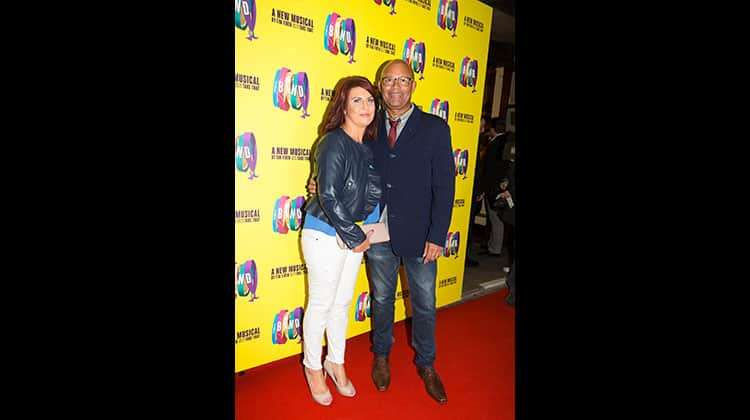 Louis Emerick with wife at the press night for The Band, credit Phil Treagus | Photo flash: opening night at The Band
