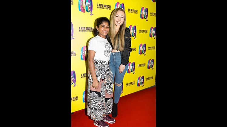 Haiesha Mistry and Ruby O'Donnell at the press night for The Band, credit Phil Treagus | Photo flash: opening night at The Band
