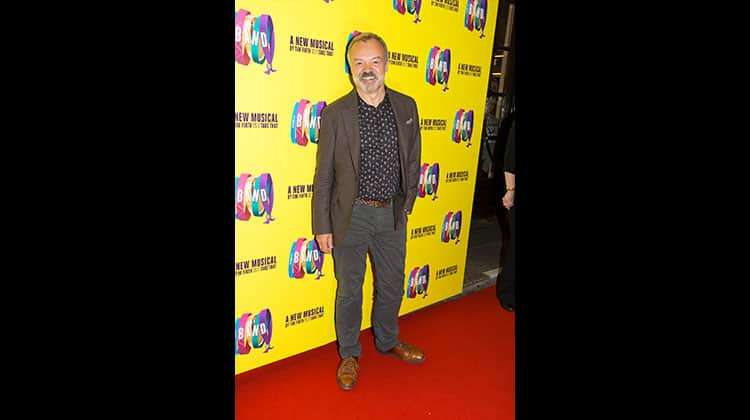 Graham Norton at the press night for THE BAND, credit Phil Treagus | Photo flash: opening night at The Band