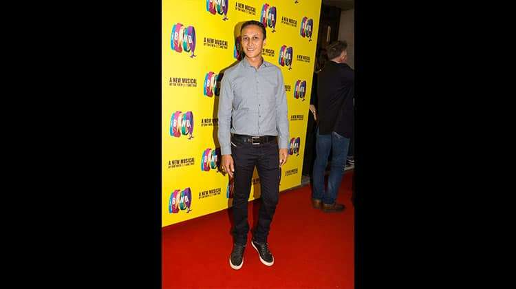Chris Bisson at the press night for The Band, credit Phil Treagus